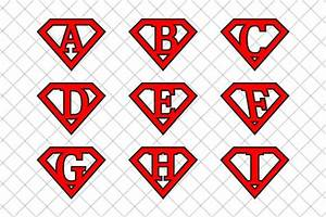 superman letters v2 illustrations creative market With superman alphabet template