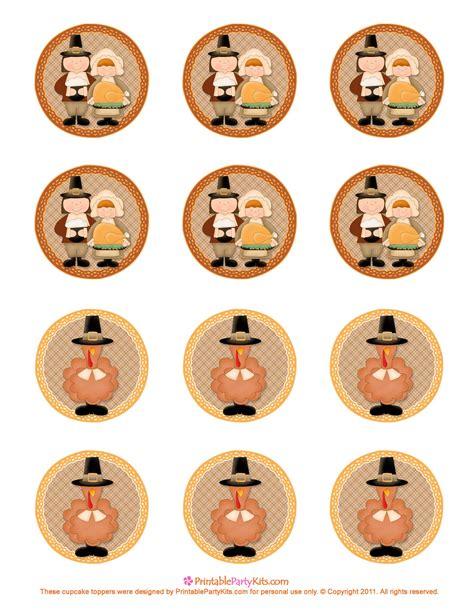 thanksgiving printables cupcake toppers printable