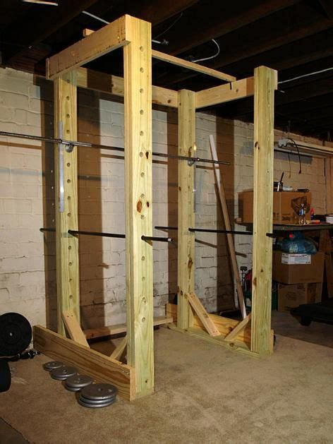 rack power homemade pipe wood weight workout gym lifting body exercise