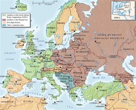 nato and warsaw pact map i pinterest d warsaw and war