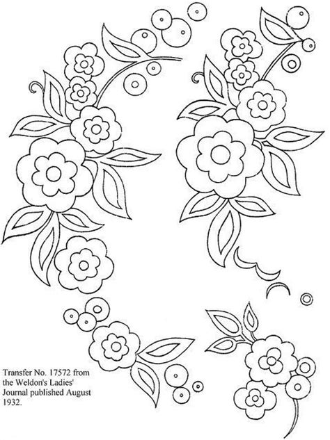 brush embroidery flower template - Google Search | Fondant