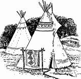 Coloring Tipi Printable sketch template