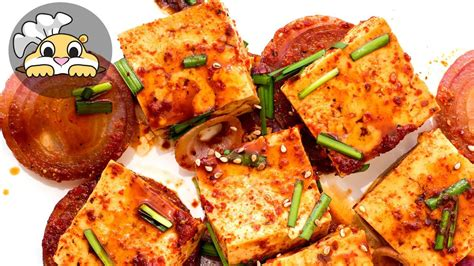 tofu recipes korean fluffy braised tofu in 10 minutes