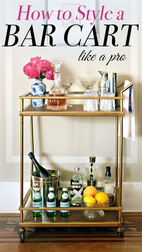 How To Decorate A Bar by 12 Best Bar Cart Ideas How To Make Diy Custom Bar Cart
