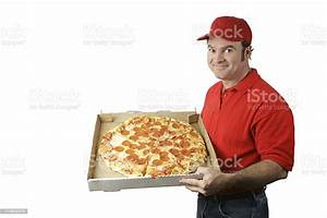 Pizza Man Delivers Stock Photo - Download Image Now - iStock