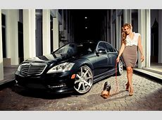 women, cars, dogs Wallpapers
