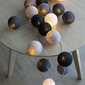 Cotton Balls Lichterkette : cotton ball lights 20 er lichterkette grau schwarz wei b lle led kugeln ebay ~ Frokenaadalensverden.com Haus und Dekorationen