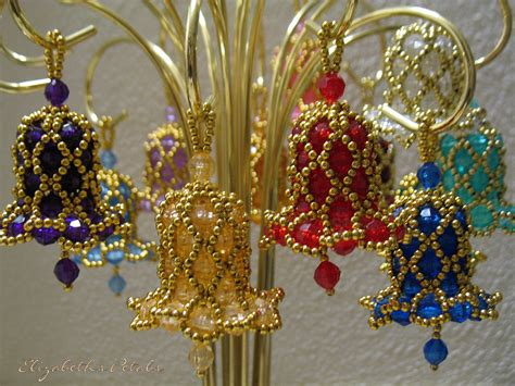 Beaded Bell Ornaments