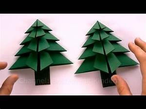 Tannenbaum Falten Anleitung : weihnachtsbasteln tanne basteln als weihnachtsdeko youtube ~ Lizthompson.info Haus und Dekorationen