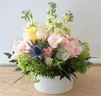 small flower arrangements Small Pastel Flower Arrangement, White Vase   Helen Stock ...
