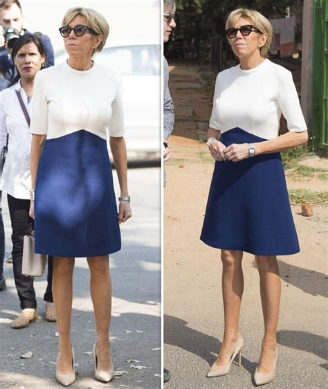 brigitte macron sexy brigitte macron wears dress in india with french president