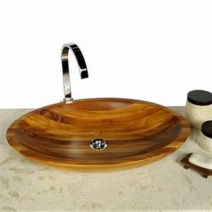 Tisch Für Aufsatzwaschbecken : teak holz waschbecken aus edelstem teak oval 60x40x10 cm bei wohnfreuden kaufen ~ Markanthonyermac.com Haus und Dekorationen