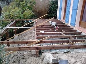 creation et pose de terrasse en bois suspendue With pose d une terrasse en bois