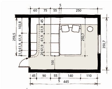 plan chambre parentale dressing tout en longueur le plan chambre