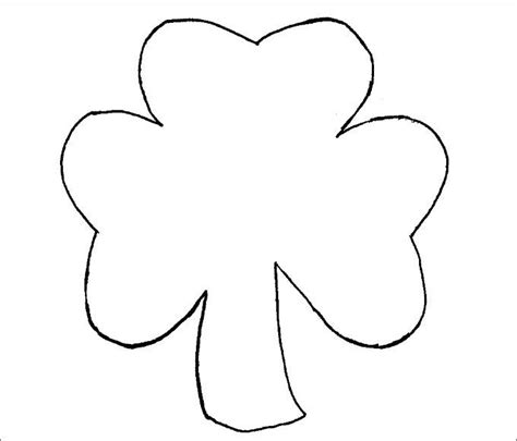 Shamrock Template Free by Small Shamrock Printable Template Ezzy