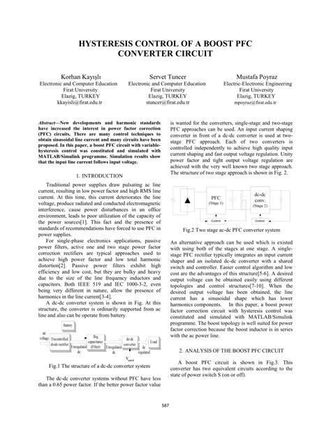 Pdf Hysteresis Control Boost Pfc Converter Circuit