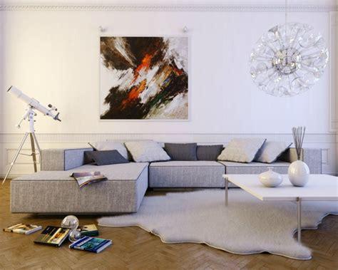 kleines wohnzimmer grosses sofa  setzen sie die couch