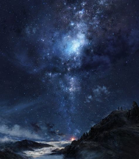 Aesthetic Sad Home Screen Wallpaper by Galaxy Clouds Sky Nebula Mountains Hd