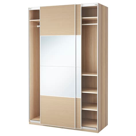 ikea armoire de chambre pax wardrobe white stained oak effect auli ilseng
