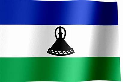 Flag Lesotho Waving Flags National Animated