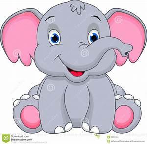 Cute Baby Elephant Cartoon Stock Images - Image: 36081704 ...