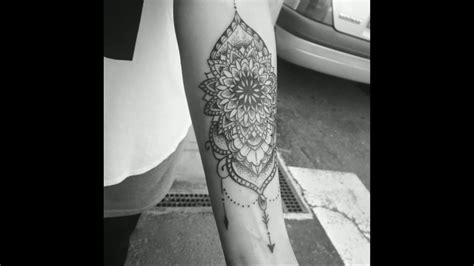 mandala tattoo forearm youtube