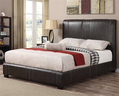 coaster upholstered beds queen caleb upholstered bed in