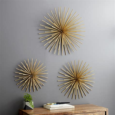 Beautiful pieces , did not have the blue as pictured ,but painted over several pieces and frame to make other decor. DecMode Indoor Gold Iron Tubes Contemporary Wall Decor, Set of 3 - Walmart.com - Walmart.com