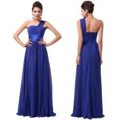 cheap blue bridesmaid dresses sg116 cheap simple royal blue one shoulder bridesmaid dress 2016 in bridesmaid dresses from