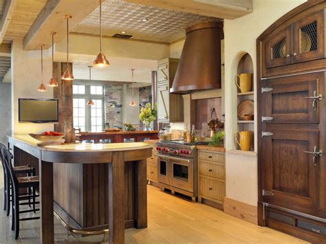rustic kitchen designs photo gallery rustic elegance in the kitchen hgtv 7840