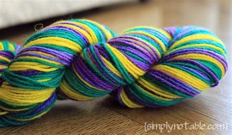 diy  striping sock yarn  easter egg dyes simply