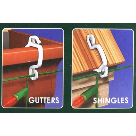 hangman outdoor christmas light hooks 100ct outdoor gutter or siding hooks for hanging icicle lights walmart