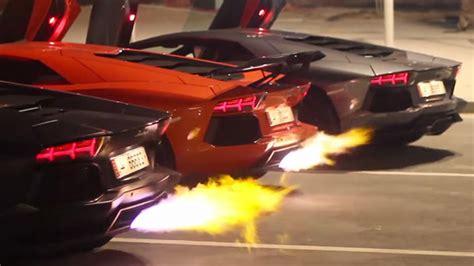 Watch Three Lamborghinis Have A Flame War
