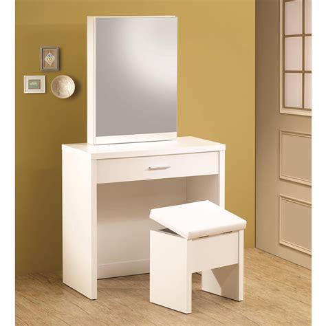 white makeup vanity desk glossy white vanity makeup table set w hidden mirror