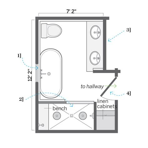 Bathroom Floor Plans Images by Floor Plan After Accommodating Dormers A Diy Attic