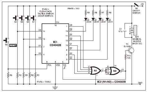 Multi Switch Doorbell With Indicators Basic Electronic