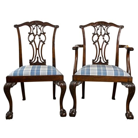 set of eight chippendale dining chairs with and claw
