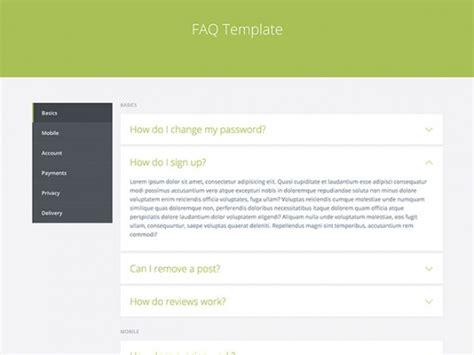 faq template word faq template html freebiesbug