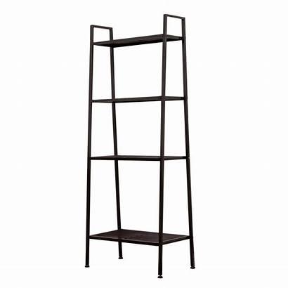 Shelf Ladder Bookshelf Bookcase Leaning Tier Shelves