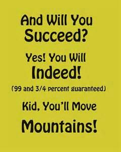 Dr. Seuss Quotes Succeed