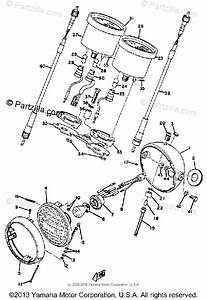 Yamaha Motorcycle 1969 Oem Parts Diagram For Headlight