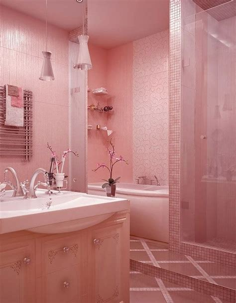 Modern Pink Tile Bathroom by 39 Pink Bathroom Tile Ideas And Pictures