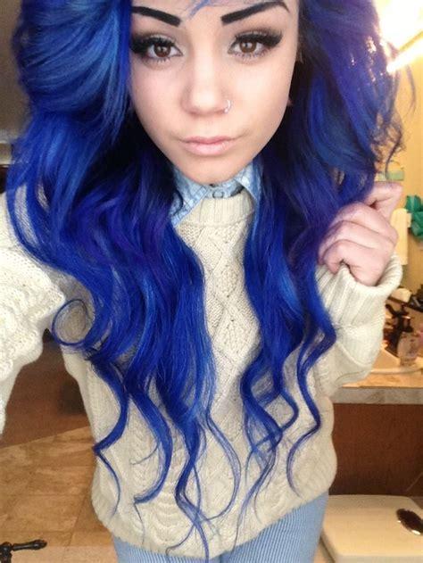 Blue Hair Ideas On Pinterest Blue Hair Unicorn Hair And