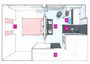 Plan Salle De Bain 4m2 : plan salle de bain 4m2 comment plan pour co plan pour ~ Nature-et-papiers.com Idées de Décoration