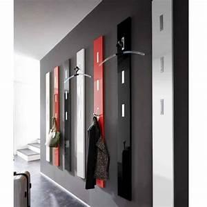 Porte Manteau Mural Moderne : porte manteau mural laque design rouge noir blanc alti ~ Teatrodelosmanantiales.com Idées de Décoration