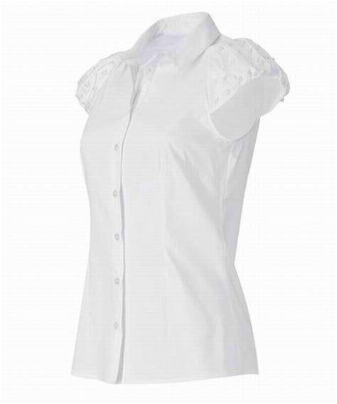 white blouse sleeve 39 s fashion apartstyle pearl cap sleeve white blouse