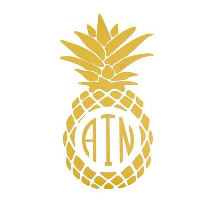 pineapple monogram decal  handpicked pineapples pinterest vinyls monogram decal