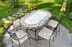 Table De Jardin Ovale : ovali table mosa que de jardin 240 180 160cm ovale en ~ Teatrodelosmanantiales.com Idées de Décoration