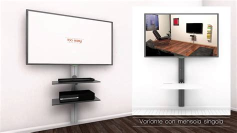 Mensole Porta Tv by Sustenia Supporto Tv Con Mensole