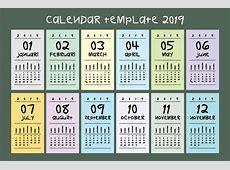 Calendar template 2019 vector Graphic by emnazar2009